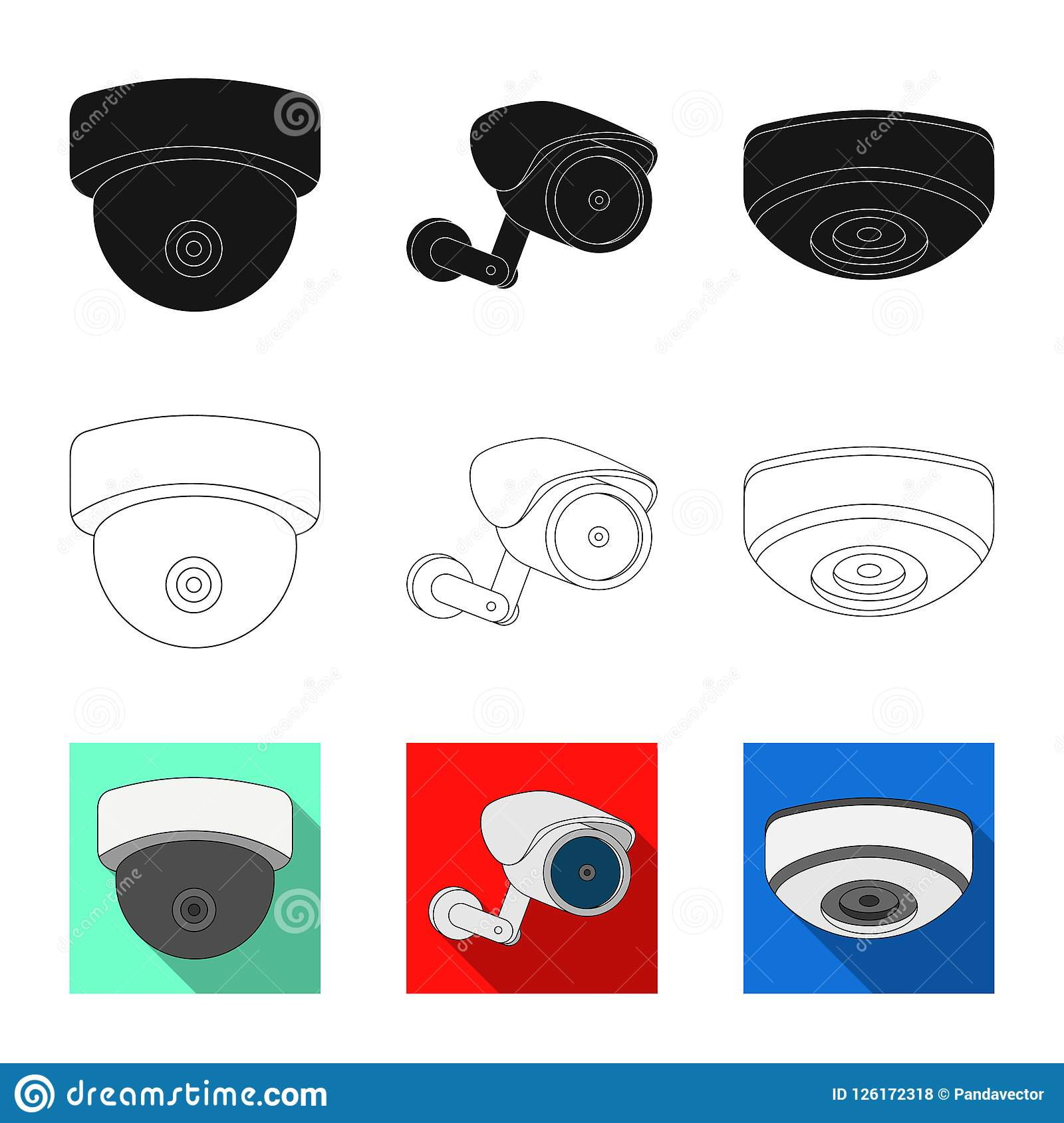 Vector Design Of Cctv And Camera Symbol Collection Of Cctv And