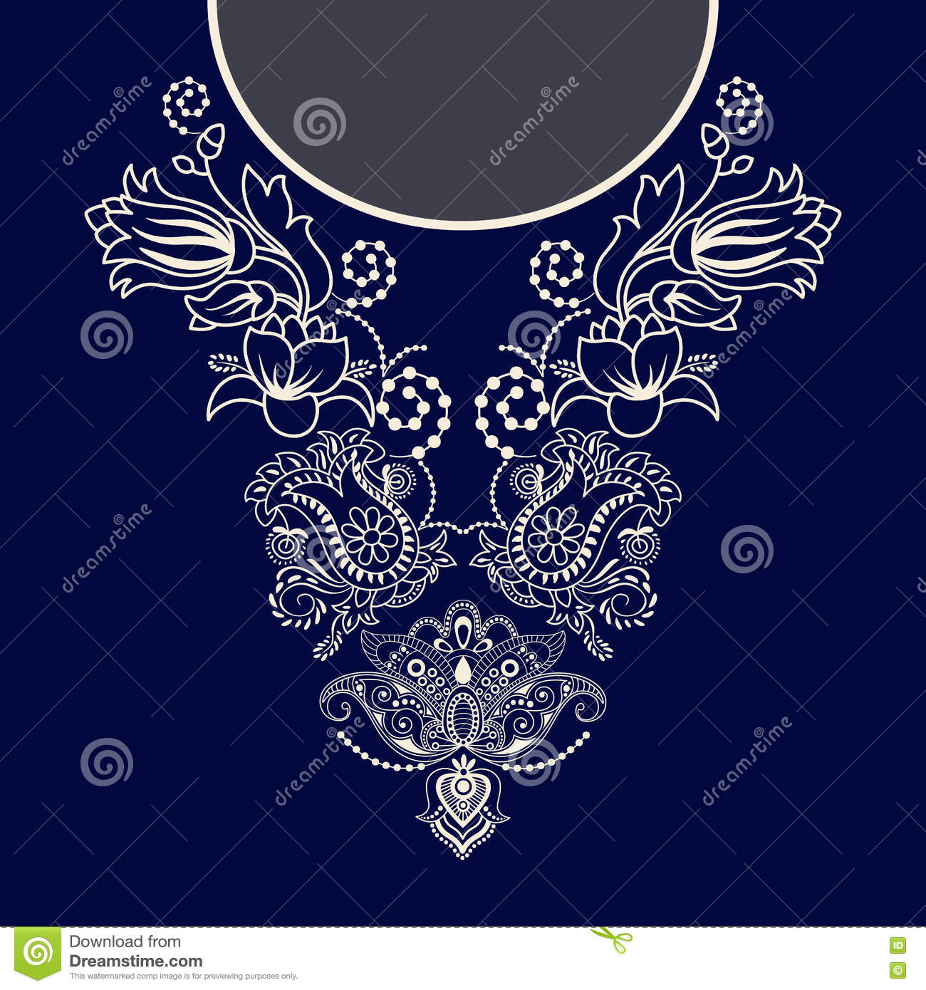 Vector design for collar shirts, blouses