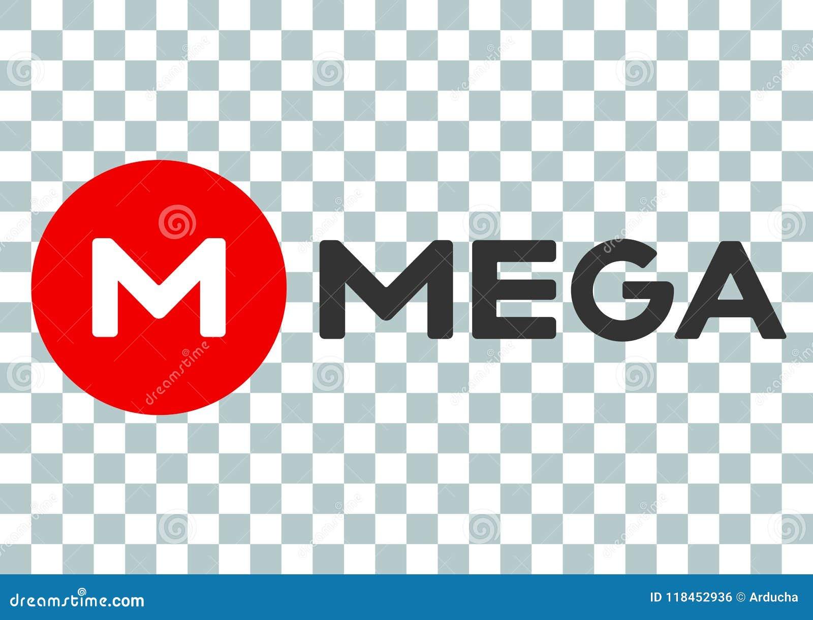 Mega cloud storage editorial photo  Illustration of logo