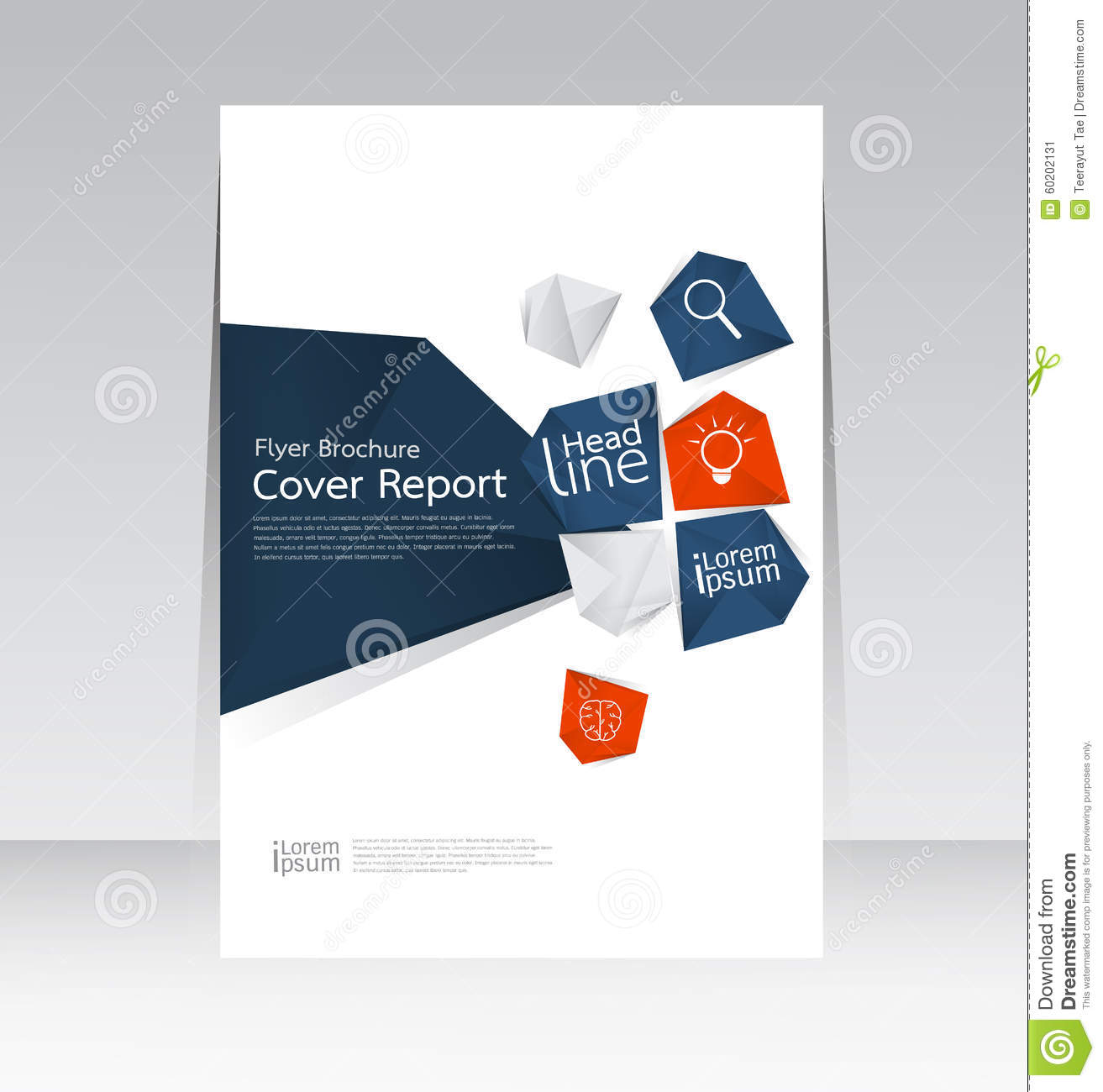 vector design for cover report annual brochure flyer