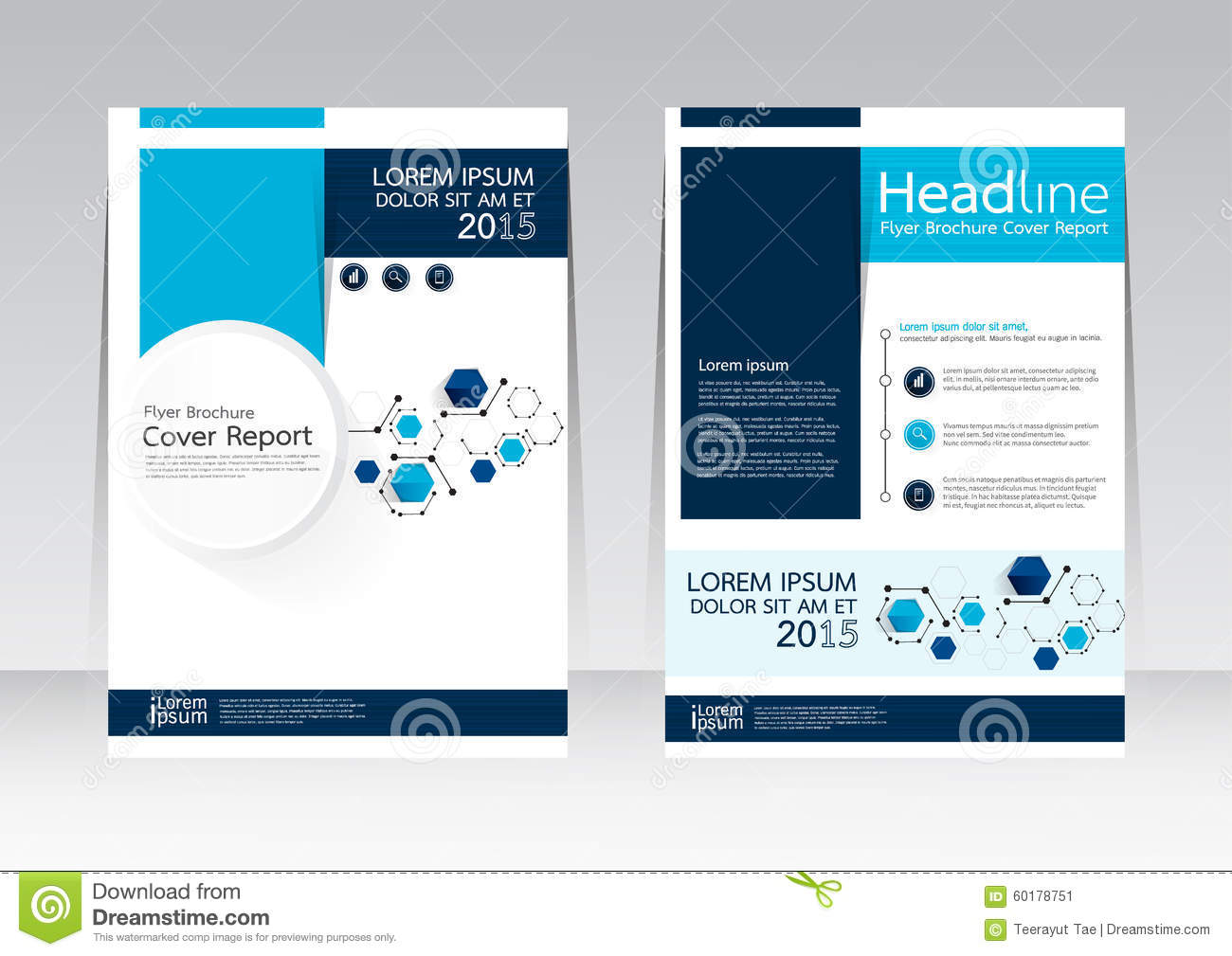 vector design for cover report brochure flyer poster in a4