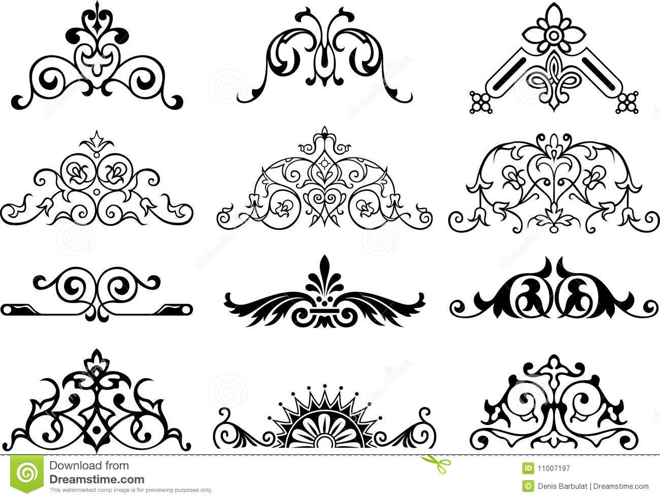 Vector design elements royalty free stock photography for Decoration elements