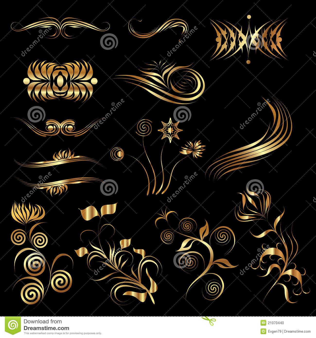 Vector design elements stock vector illustration of for Gothic design elements