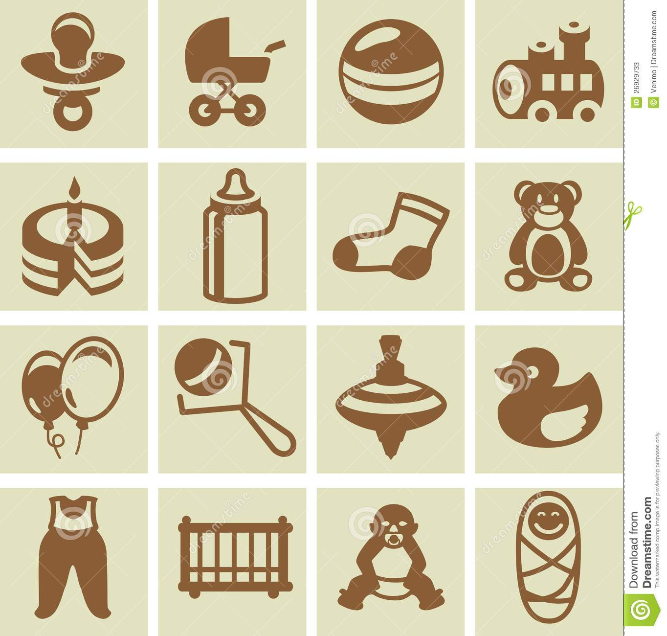 Vector Design Elements For Children And Kids Stock Photos