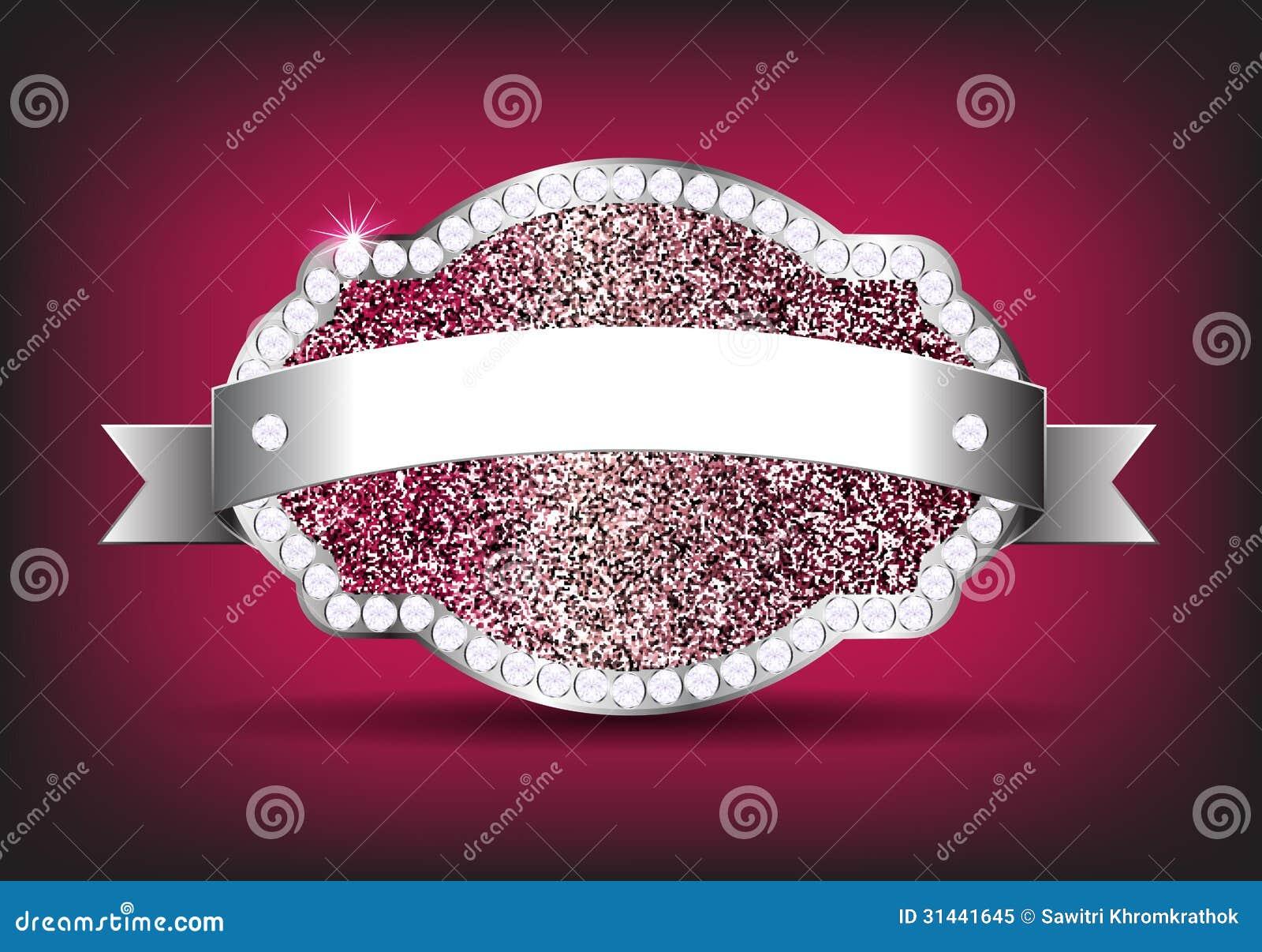 vector design elements label diamond sparkle glitt royalty