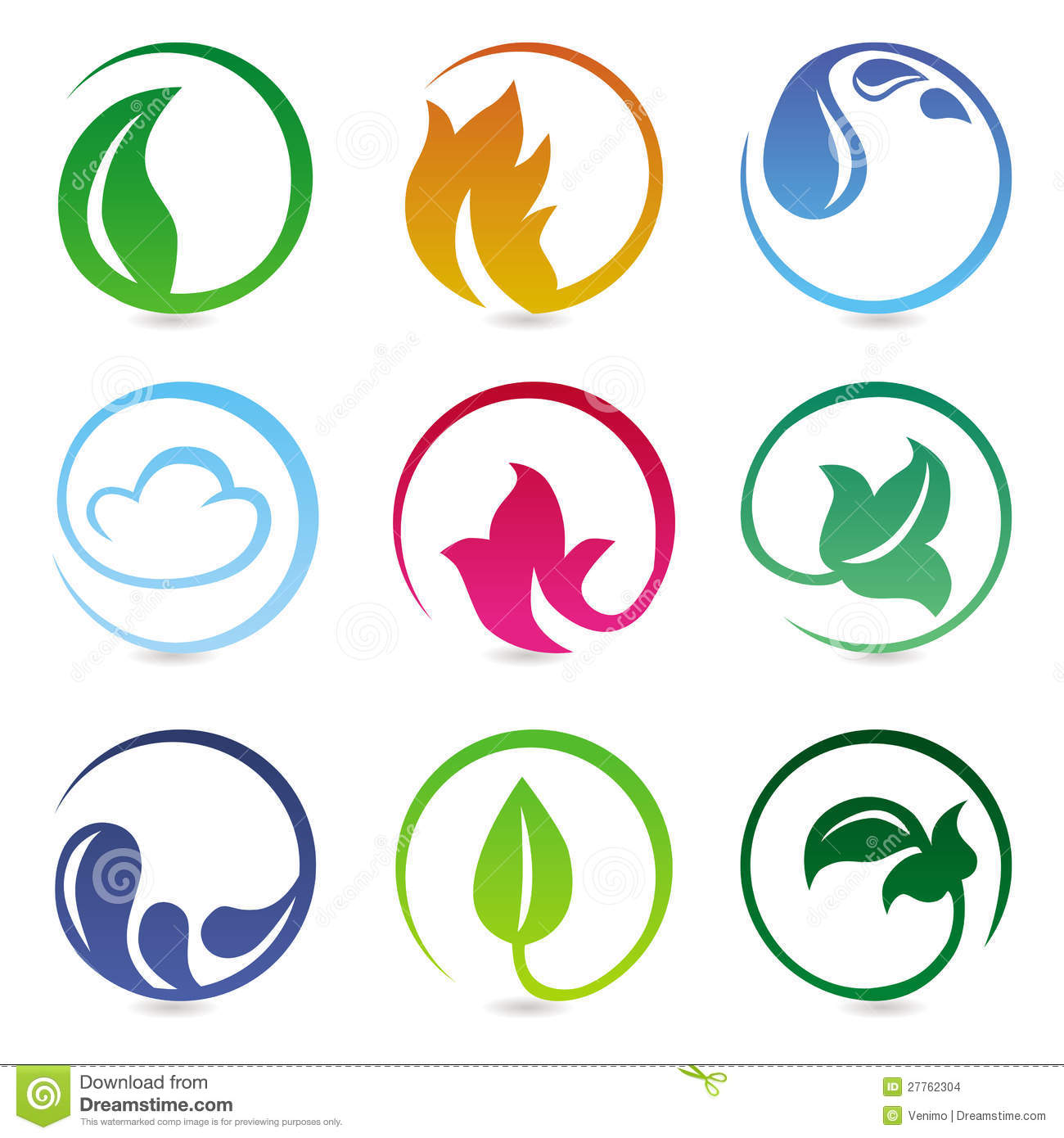 Elements For Design : Vector design elements with nature signs stock