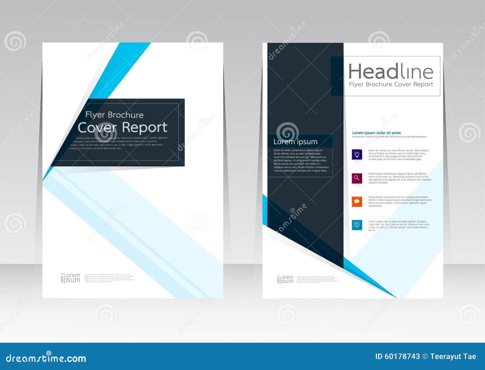 Vector Design für Abdeckungs-Berichts-Broschüren-Flieger-Plakat in der Größe A4