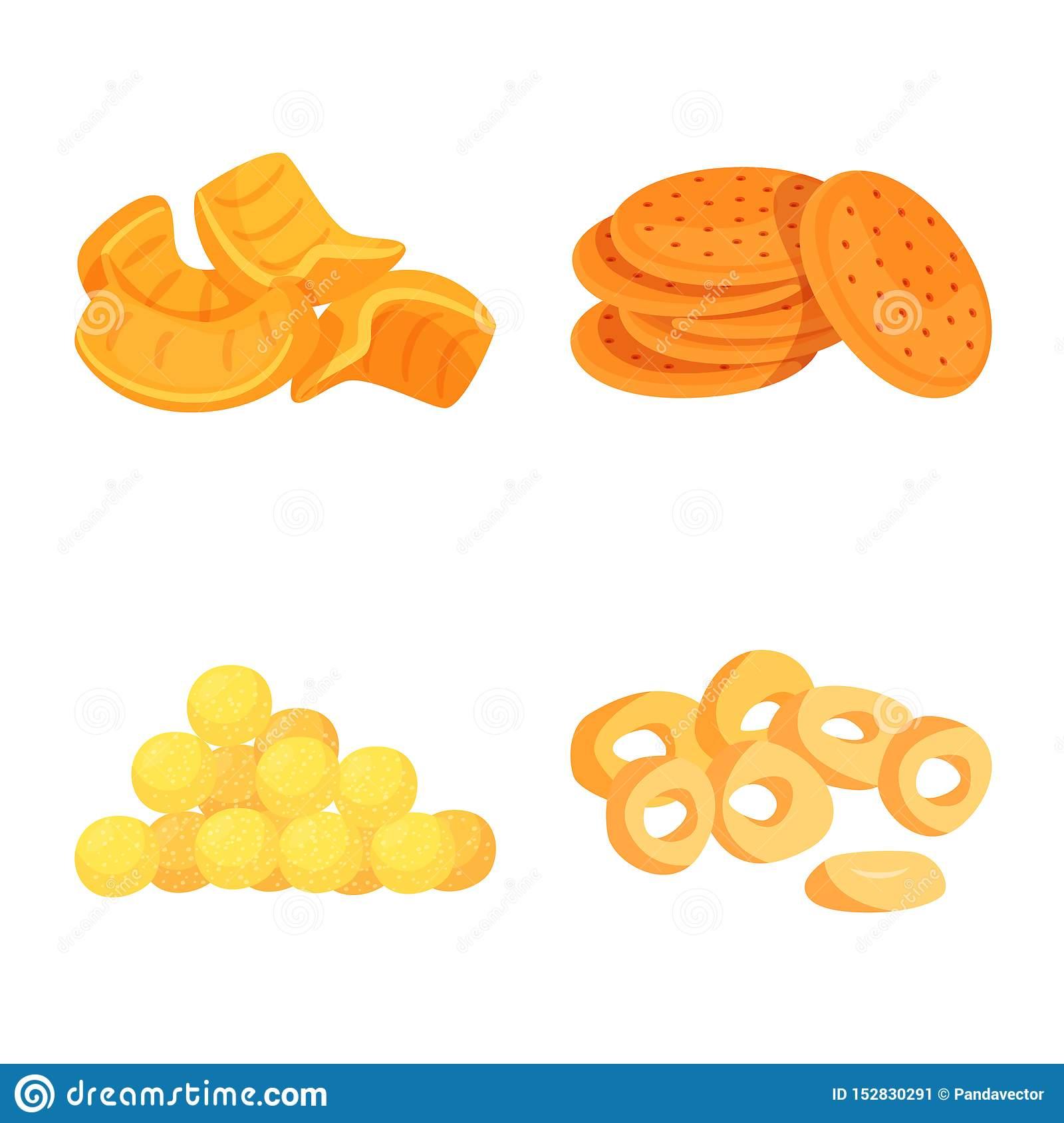 Isolated object of food and crunchy logo. Set of food and flavor stock vector illustration.