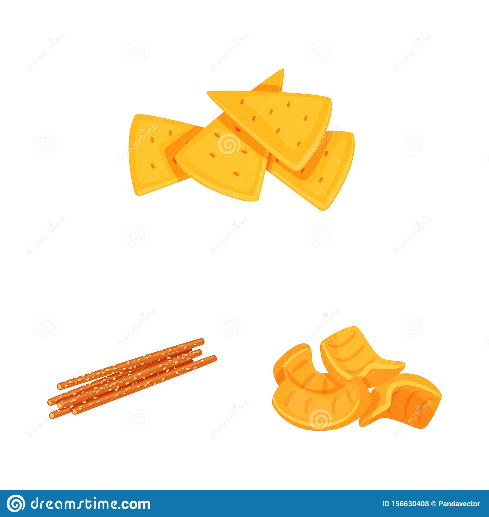Isolated object of food and crunchy symbol. Collection of food and flavor stock symbol for web.