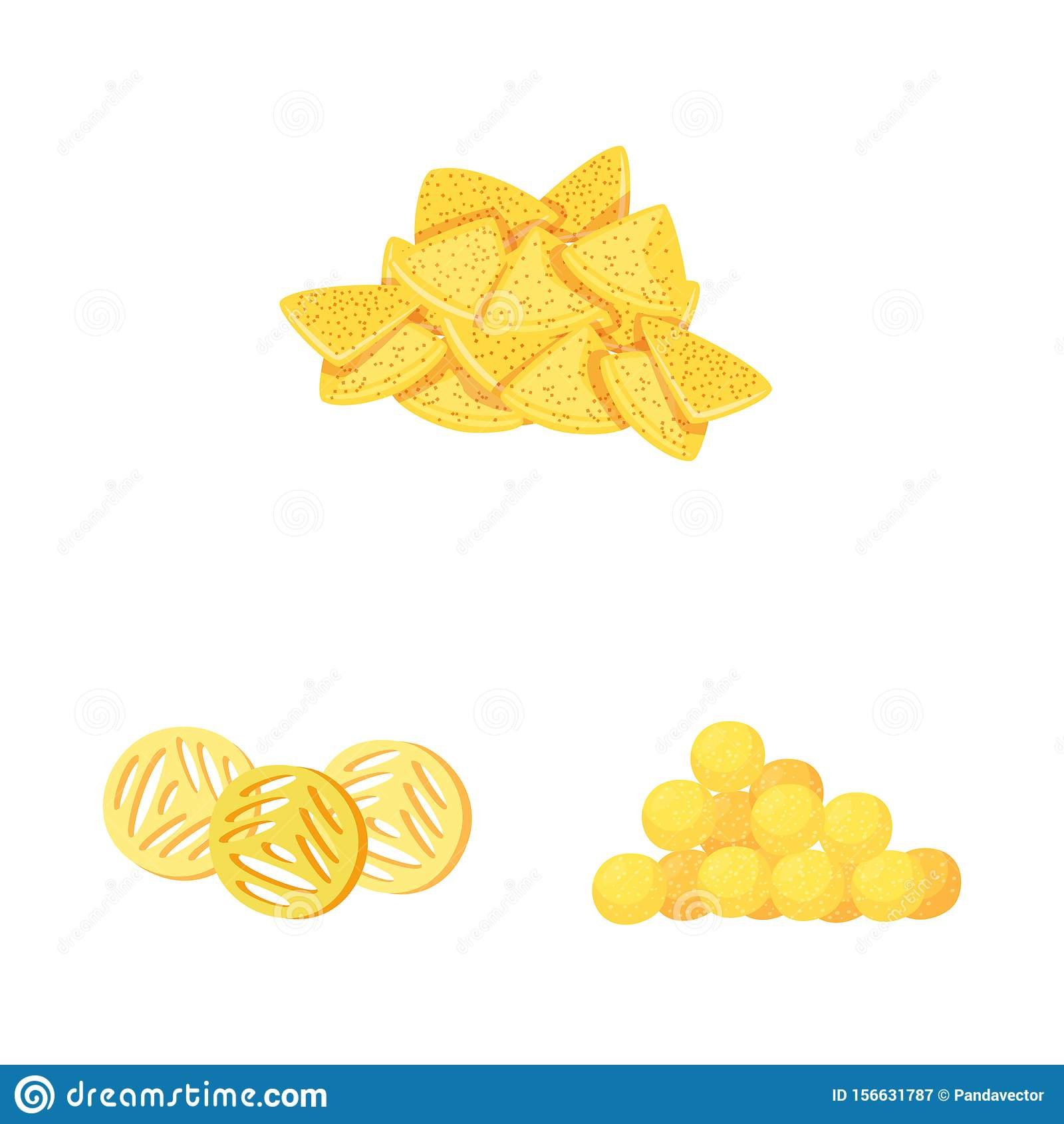 Vector design of food and crunchy symbol. Set of food and flavor stock vector illustration.
