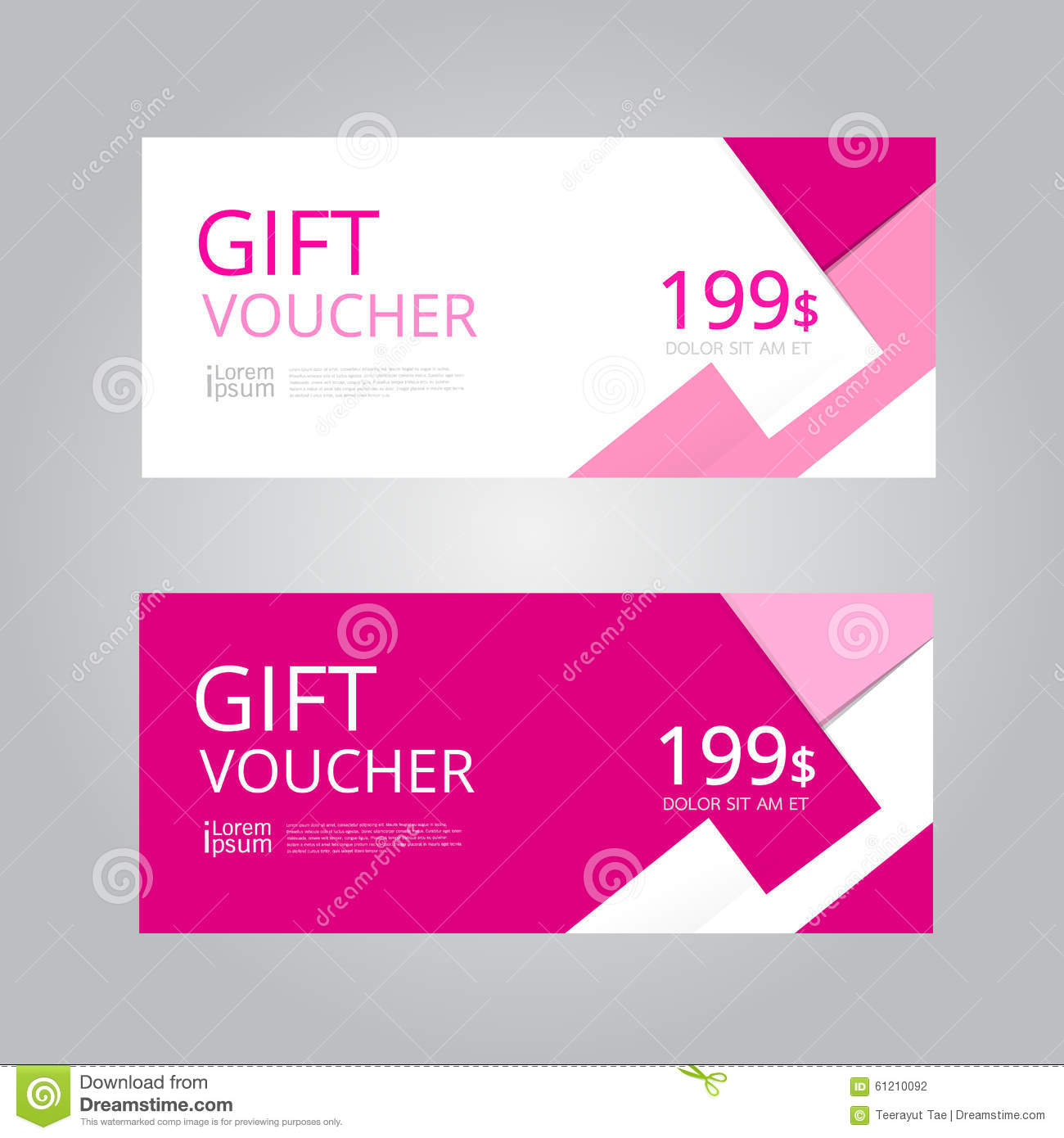 vector design for gift voucher coupon stock vector illustration