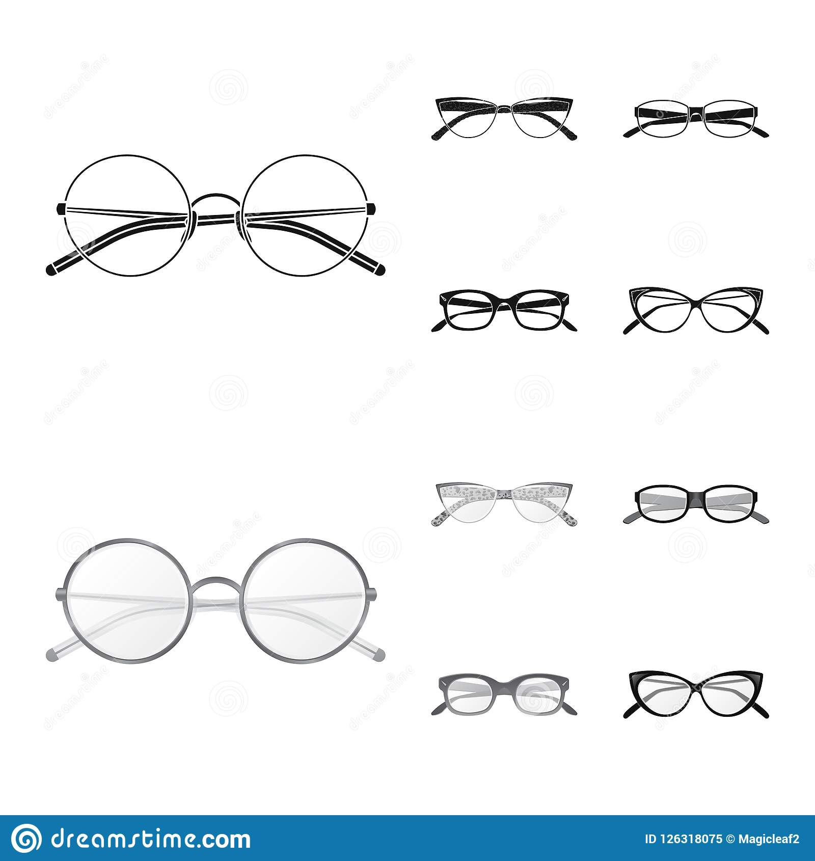 Vector Design Of Glasses And Frame Icon. Set Of Glasses And ...