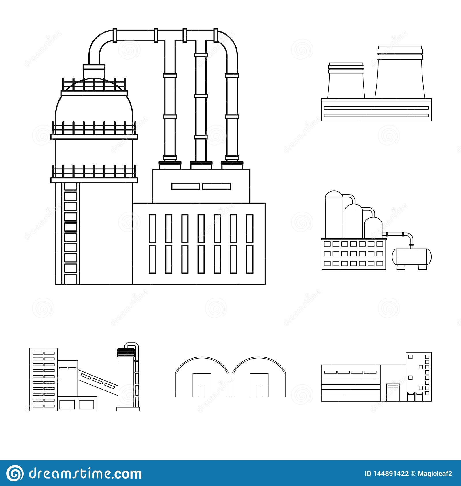 Vector Design Of Manufacturing And Company Symbol Collection Of