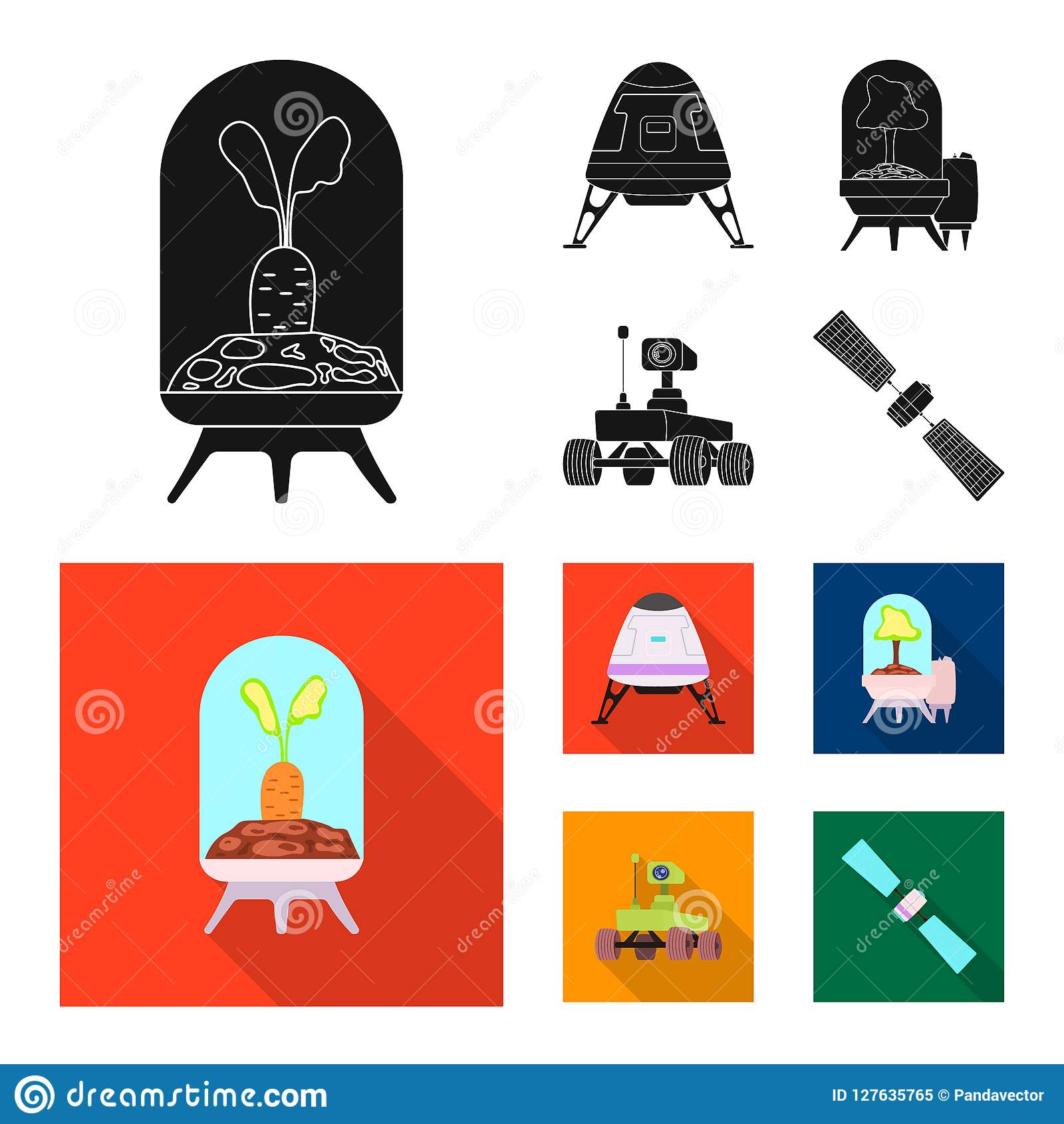 Vector Design Of Mars And Space Symbol Collection Of Mars And