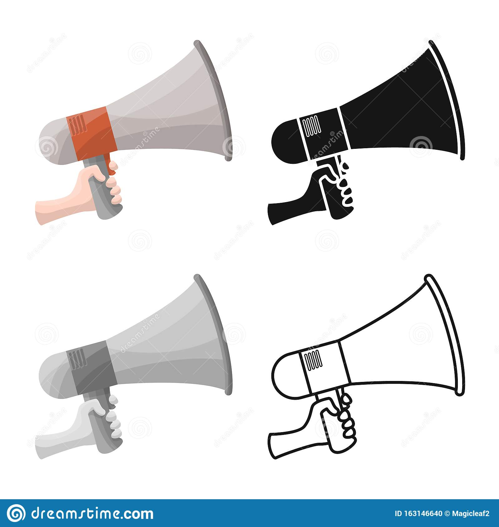 vector design of megaphone and speaker icon graphic of megaphone and loudspeaker stock symbol for web stock vector illustration of sound alert 163146640 dreamstime com