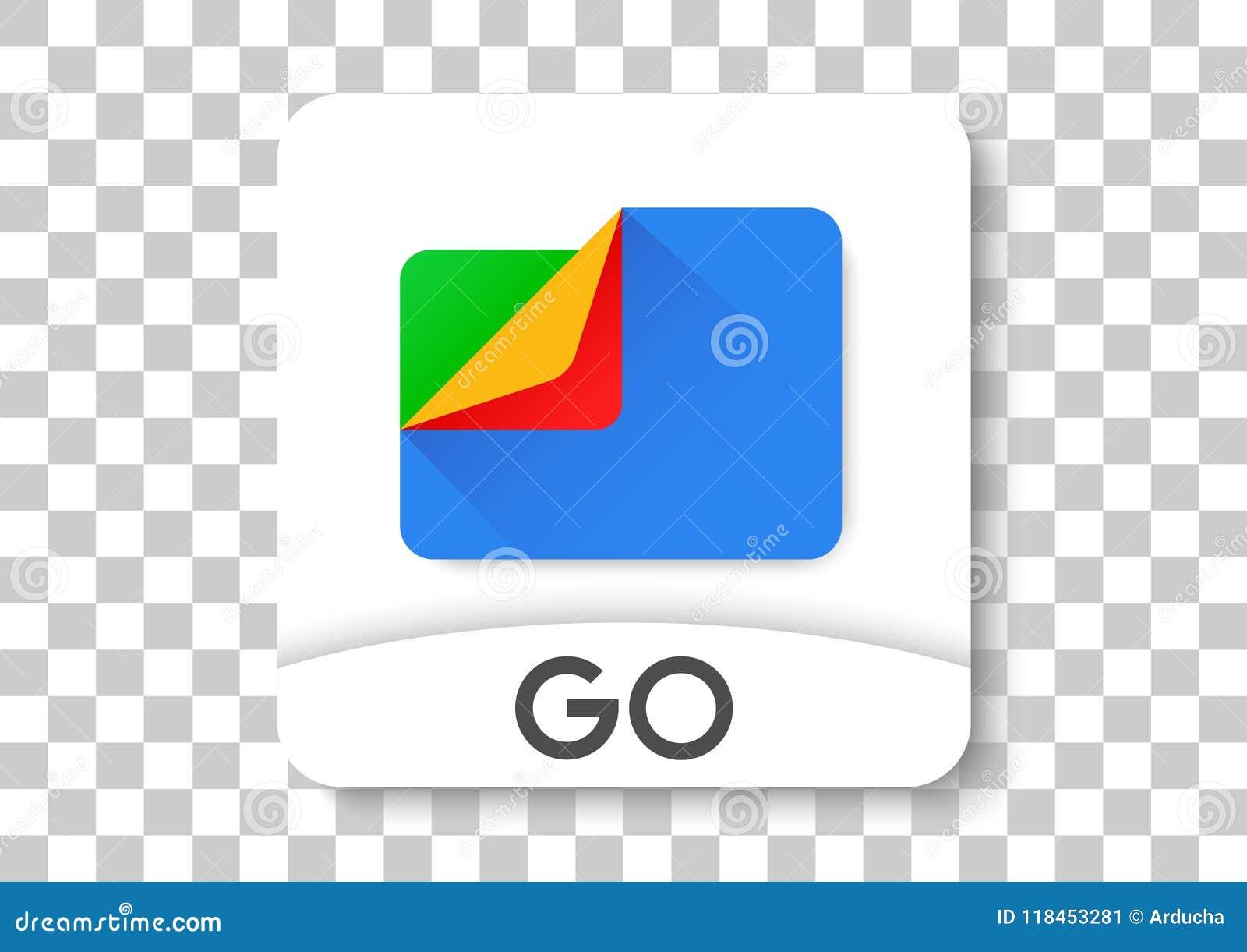 Google files go apk icon editorial photo  Illustration of