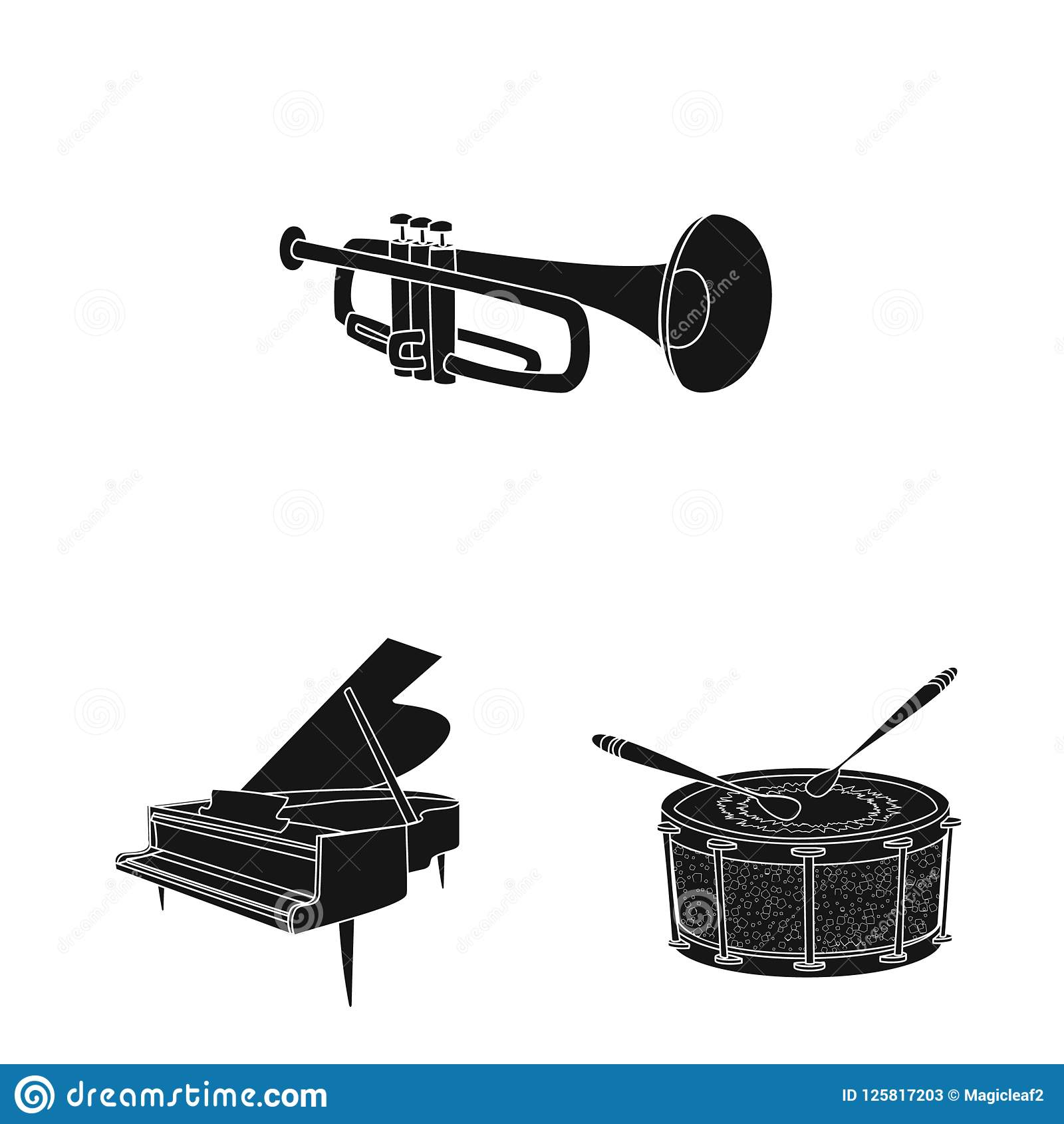Isolated Object Of Music And Tune Icon Collection Of Music And Tool
