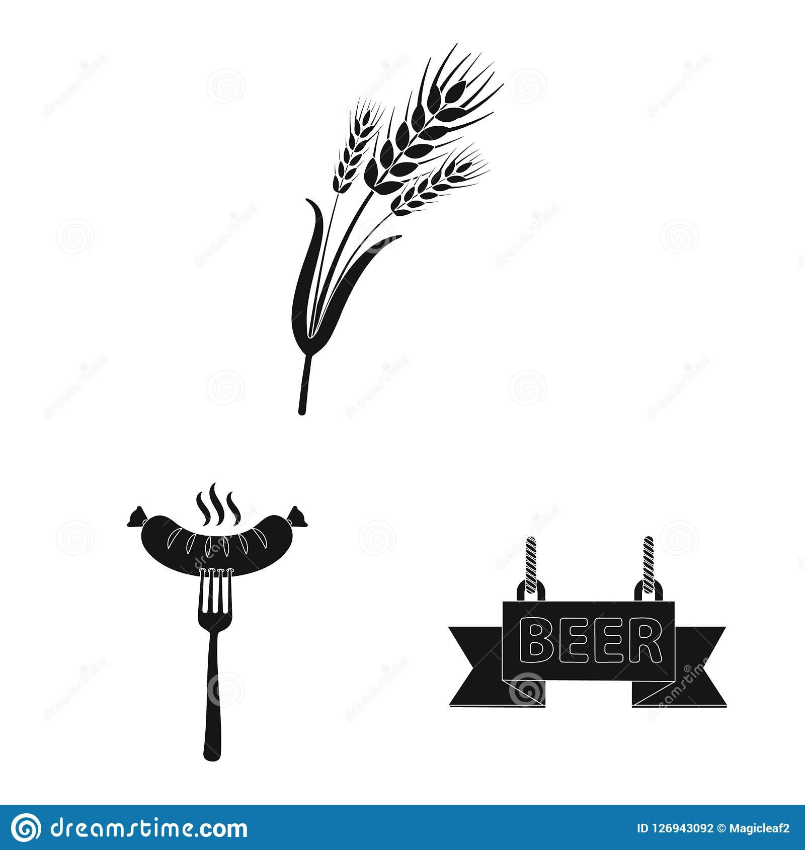 vector design of pub and bar symbol set of pub and interior stock