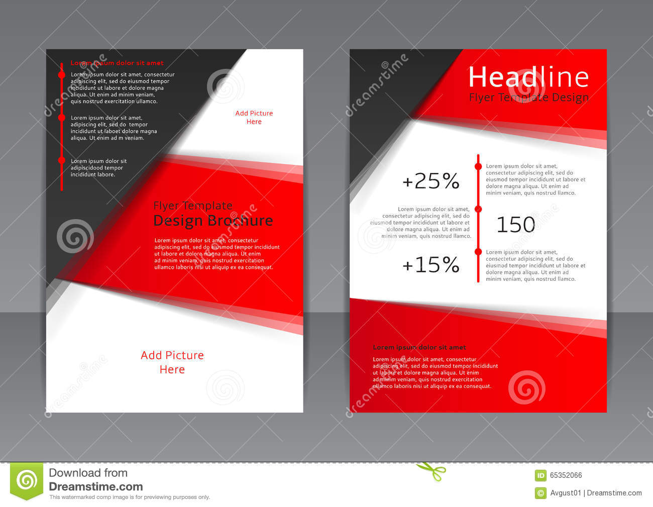 Vector Design Of The Red And Black Flyer Cover Brochure Poster