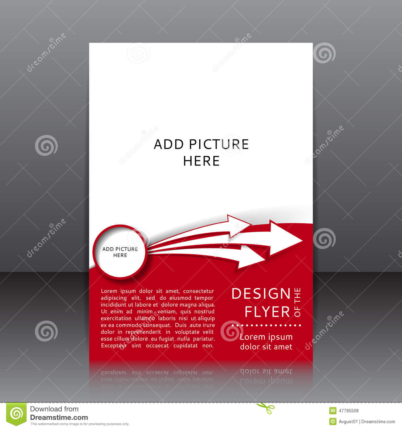 Vector Design Of The Red Flyer With Black Elements And Places For – Red Flyer Template