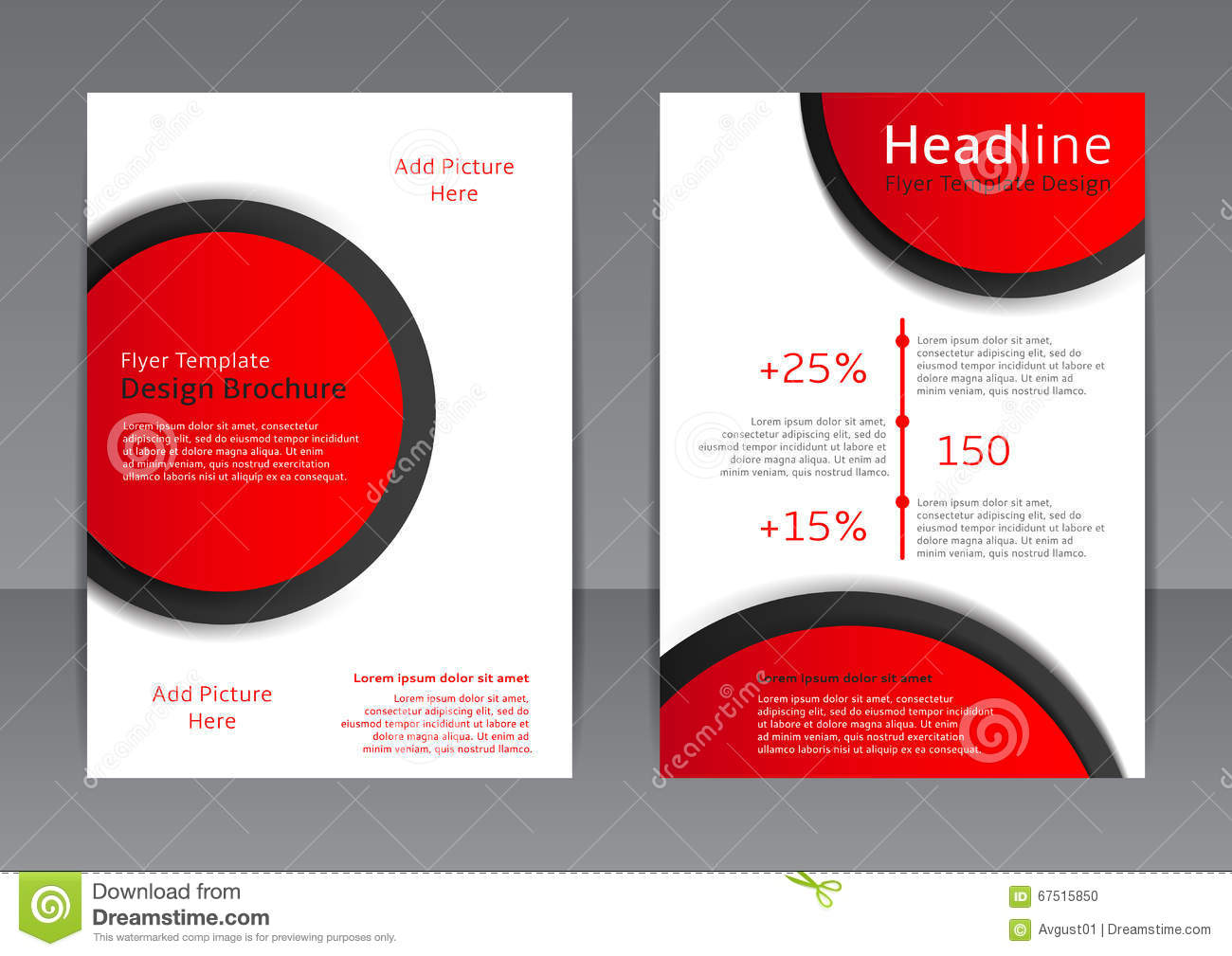 Elements of a poster design - Vector Design Of The Red And White Flyer Cover Brochure Poster Report