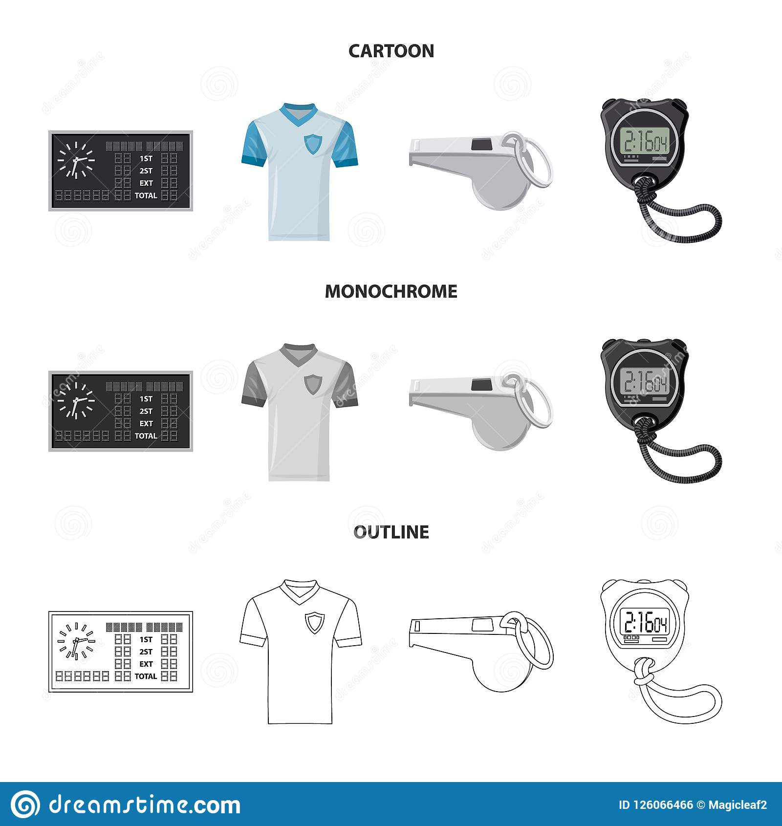 Isolated Object Of Soccer And Gear Icon Set Of Soccer And