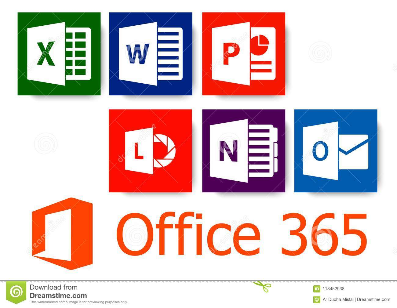 Microsoft office editorial stock photo  Illustration of product