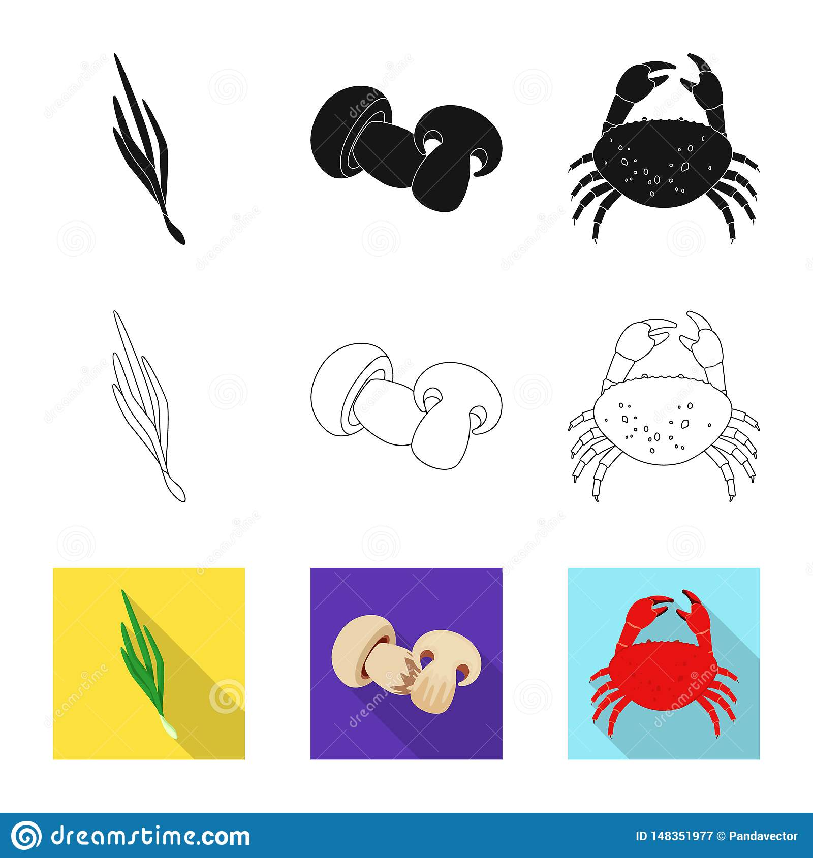 Vector design of taste and product logo. Set of taste and cooking vector icon for stock.
