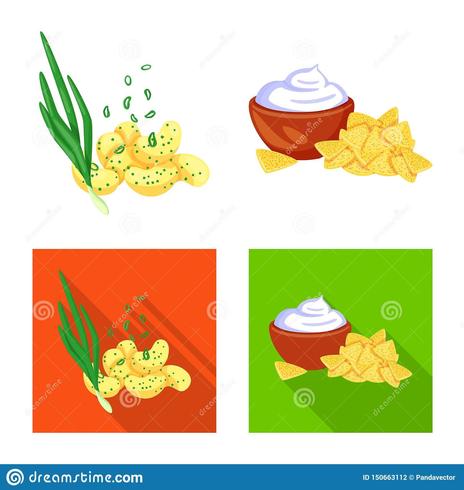Vector design of taste and seasonin logo. Collection of taste and organic vector icon for stock.