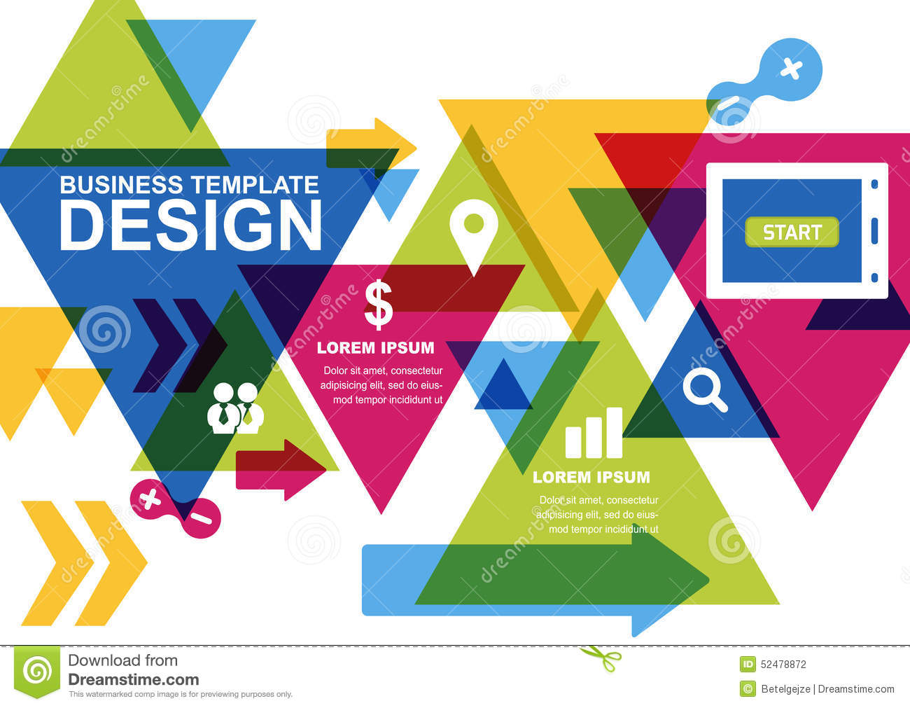 Vector design template for business brochure flyer - Service a the design ...