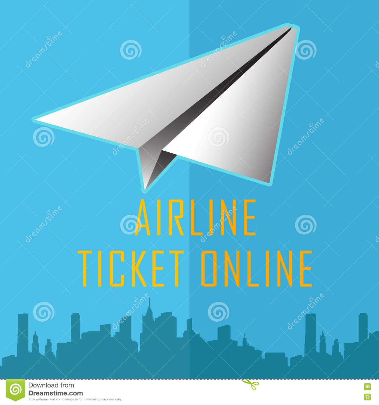 Vector Design Template With Plane Online Design Eliments For Online Booking Flights Tickets