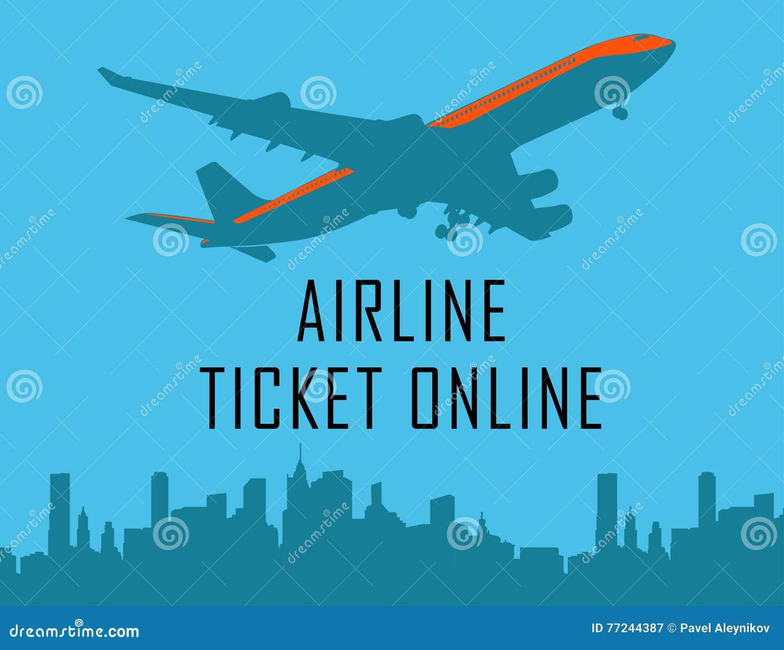 Vector Design Template With Plane, Online Design Eliments