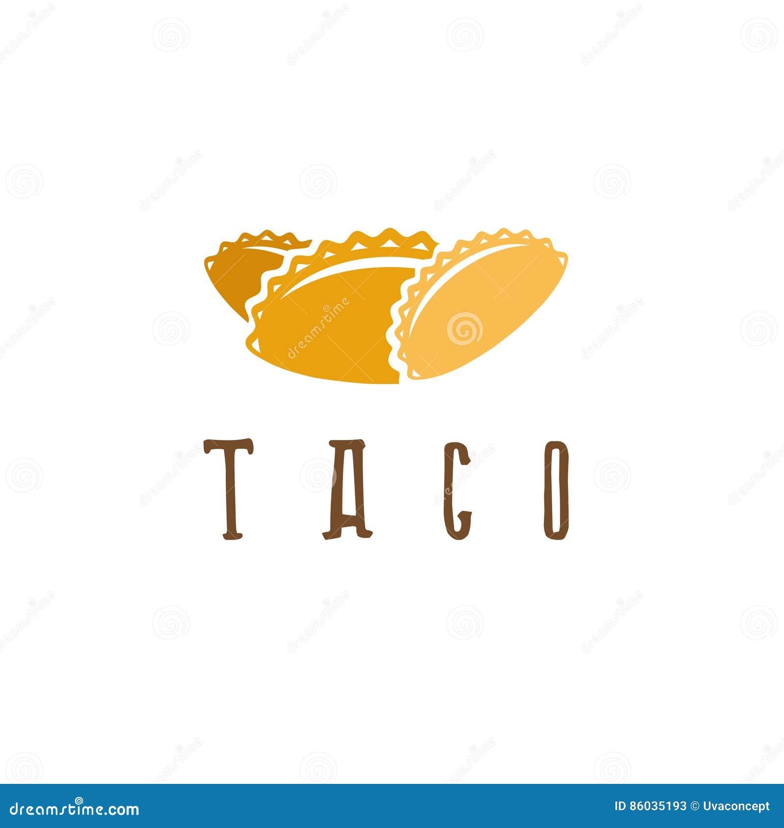 vector design template of taco mexican stock vector illustration