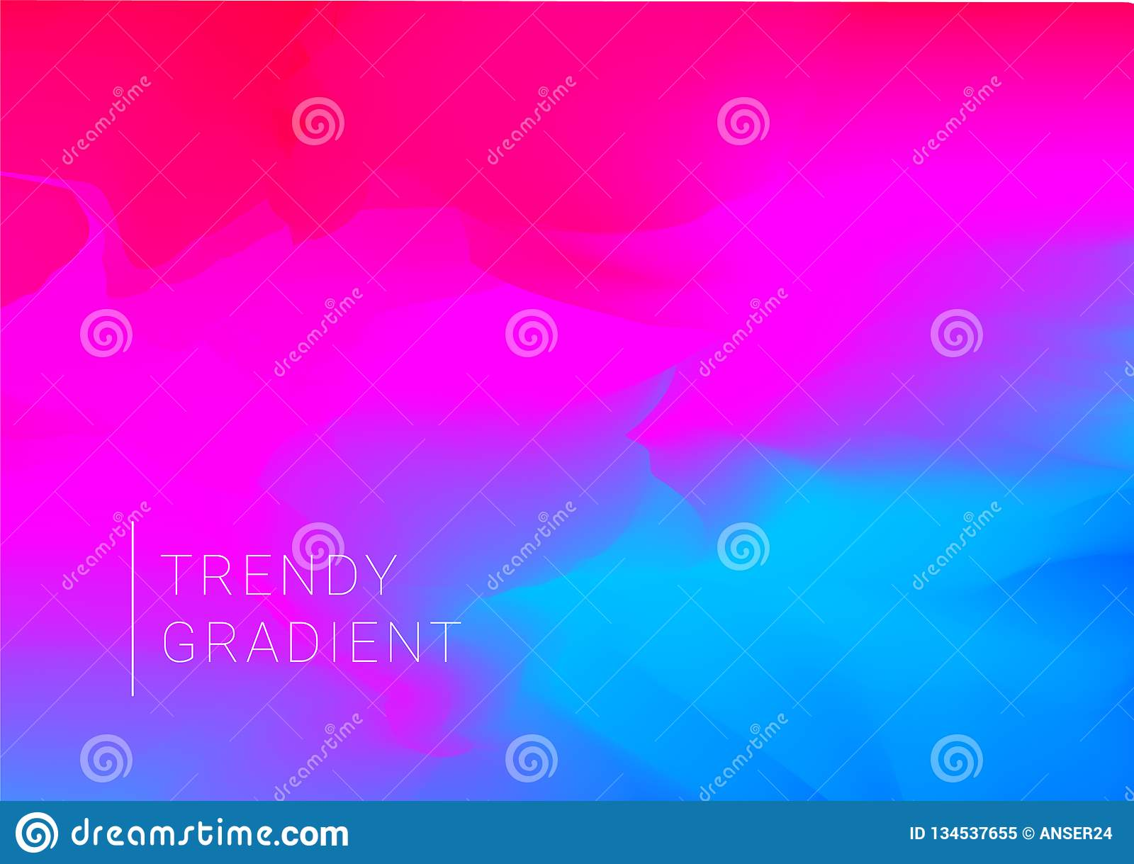 Vector design template in trendy vibrant gradient colors with abstract shapes