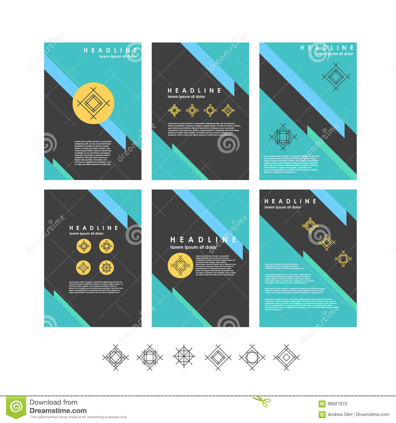 Vector Design Templates Collection For Banners, Presentation