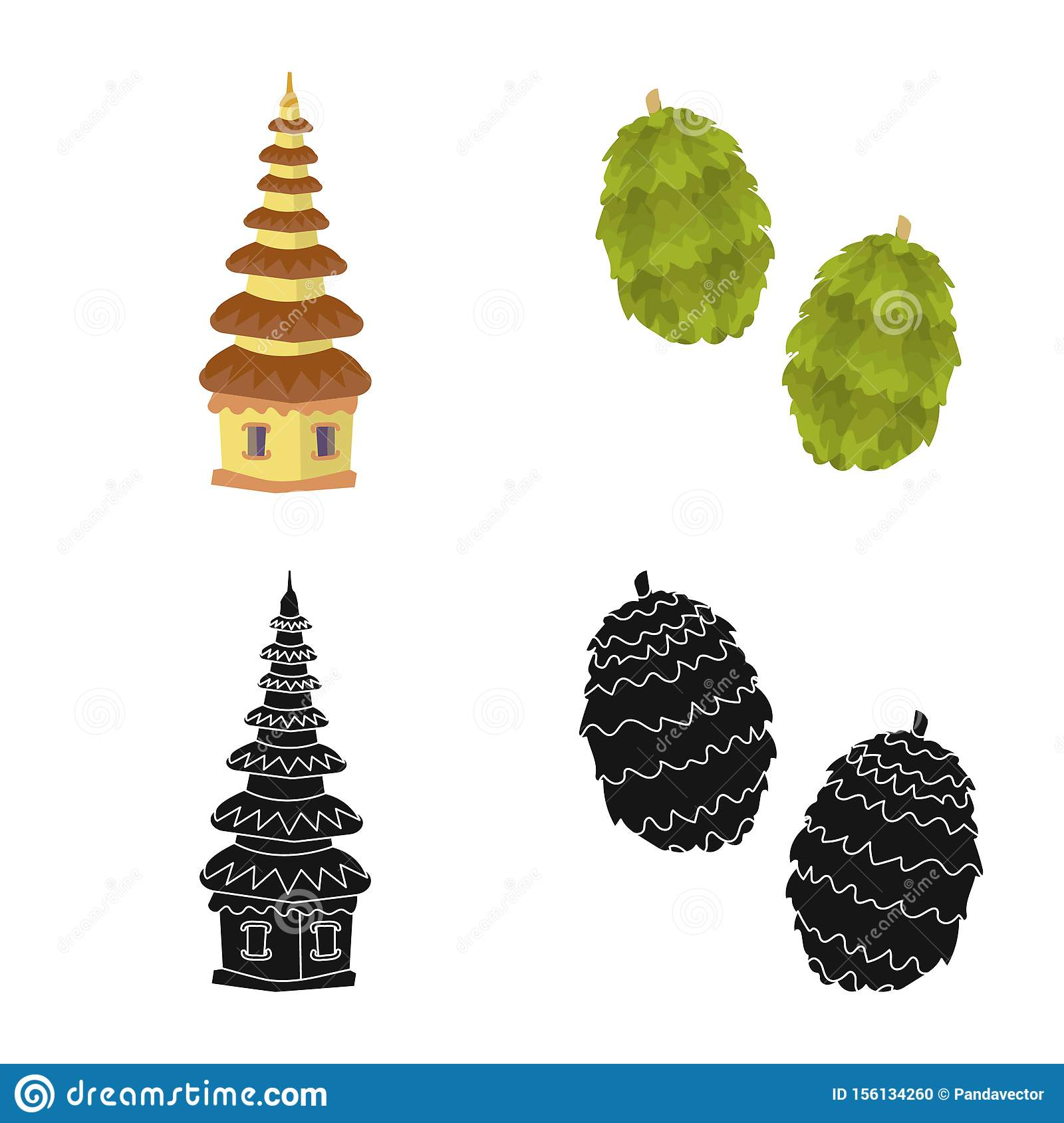 Isolated object of and travel icon. Collection of and traditional stock vector illustration.