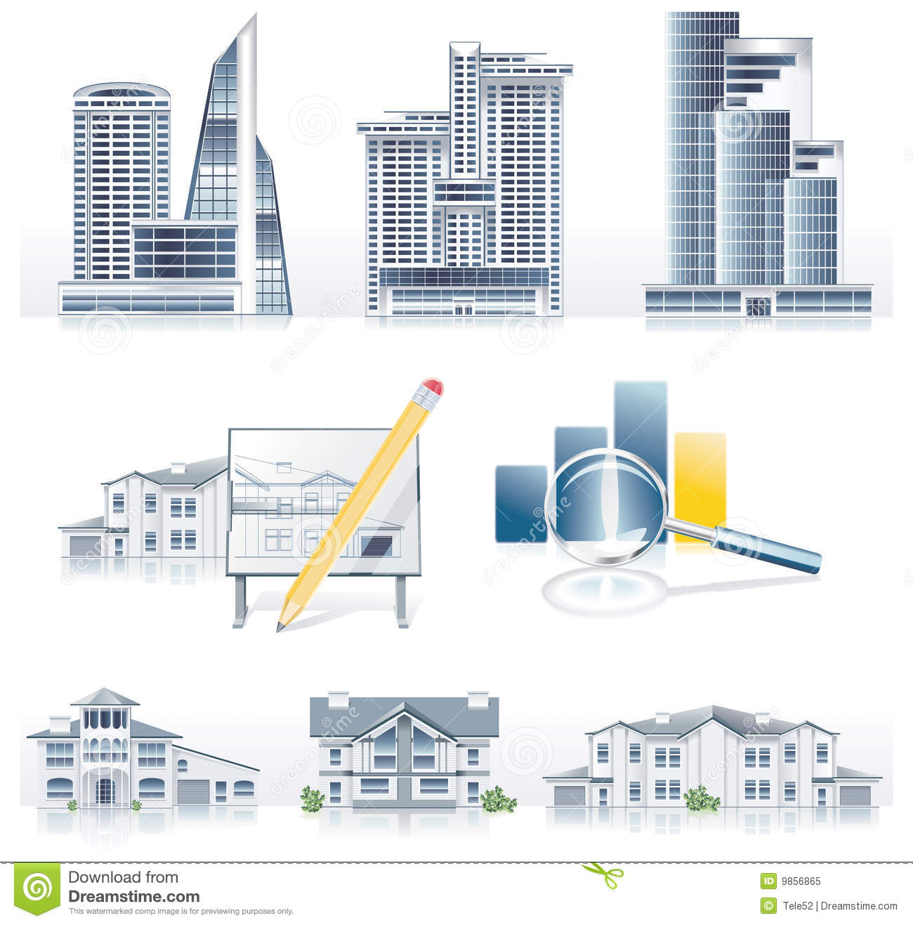 Vector detailed architecture icon set royalty free stock for Architecture icon