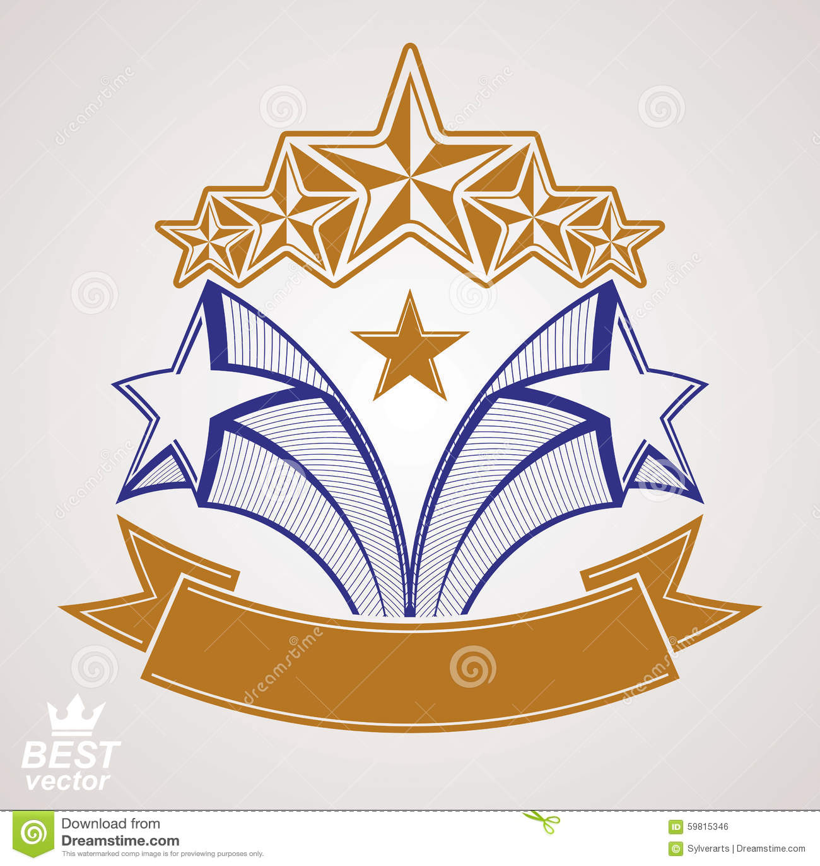 Vector Detailed Luxury Symbol. Aristocratic Heraldry ...