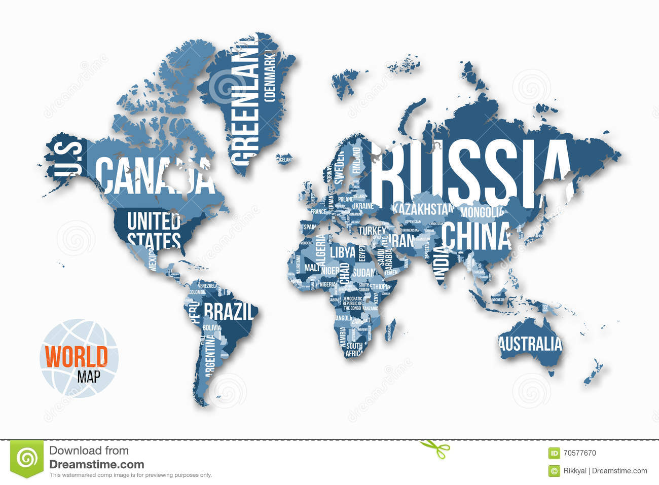Vector detailed world map with borders and country names stock download comp gumiabroncs Image collections