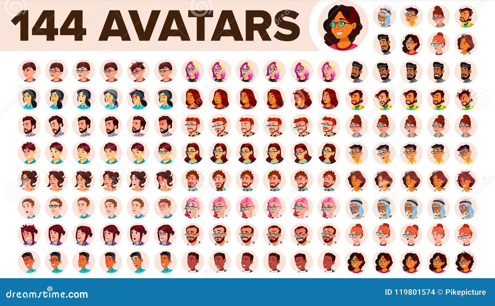 Vector determinado del avatar de la gente Hombre, mujer Placeholder del defecto Miembro coloreado Persona del usuario Imagen expr