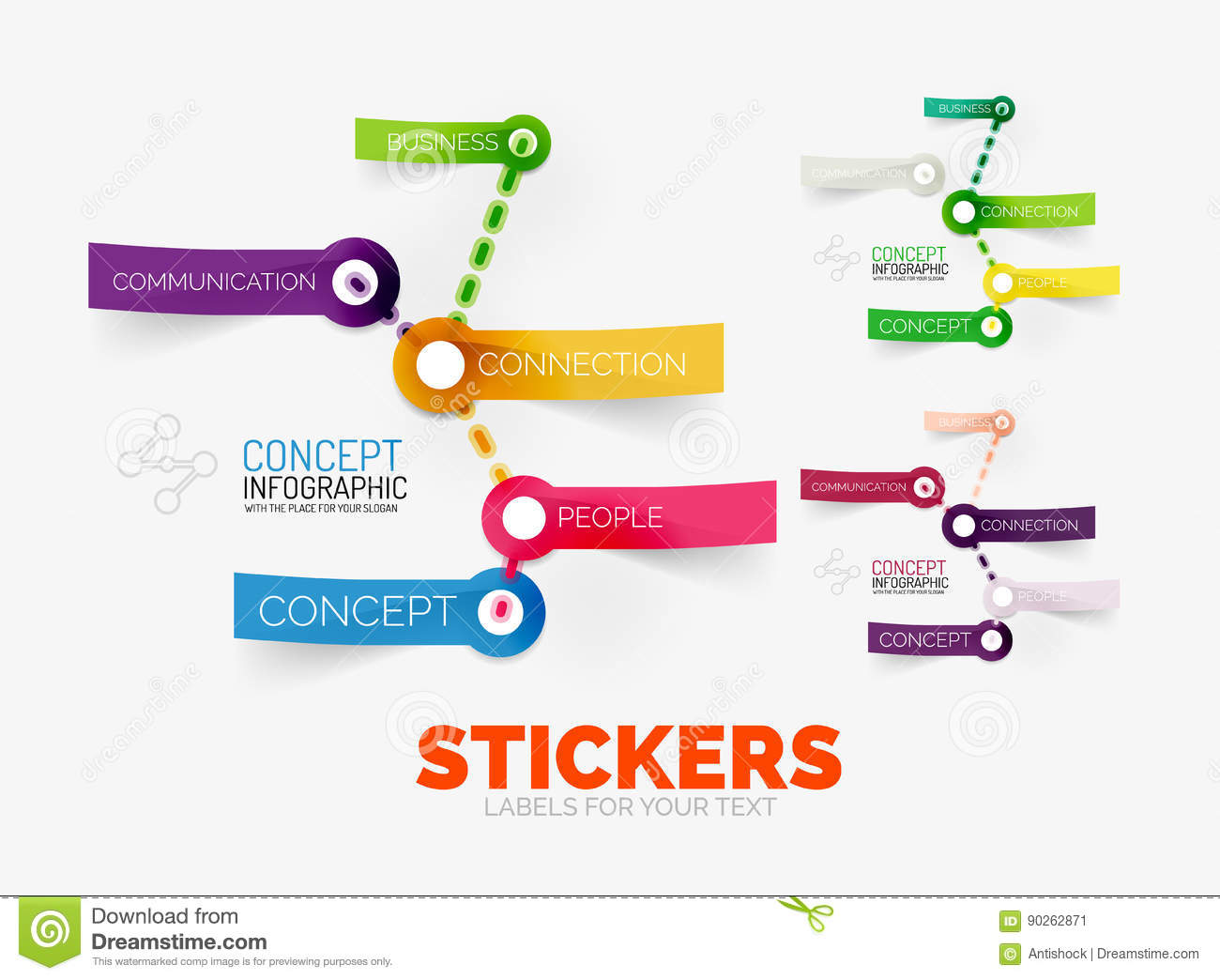vector diagram elements set colour paper sticker icons translucent plastic style can be used as background any text icon 90262871 vector diagram elements set with colour paper sticker icons stock