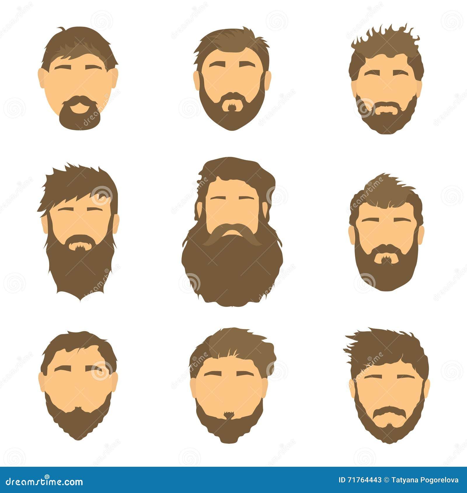 Vector Die Frisur Der Manner Illustration Haar Auf Weissem