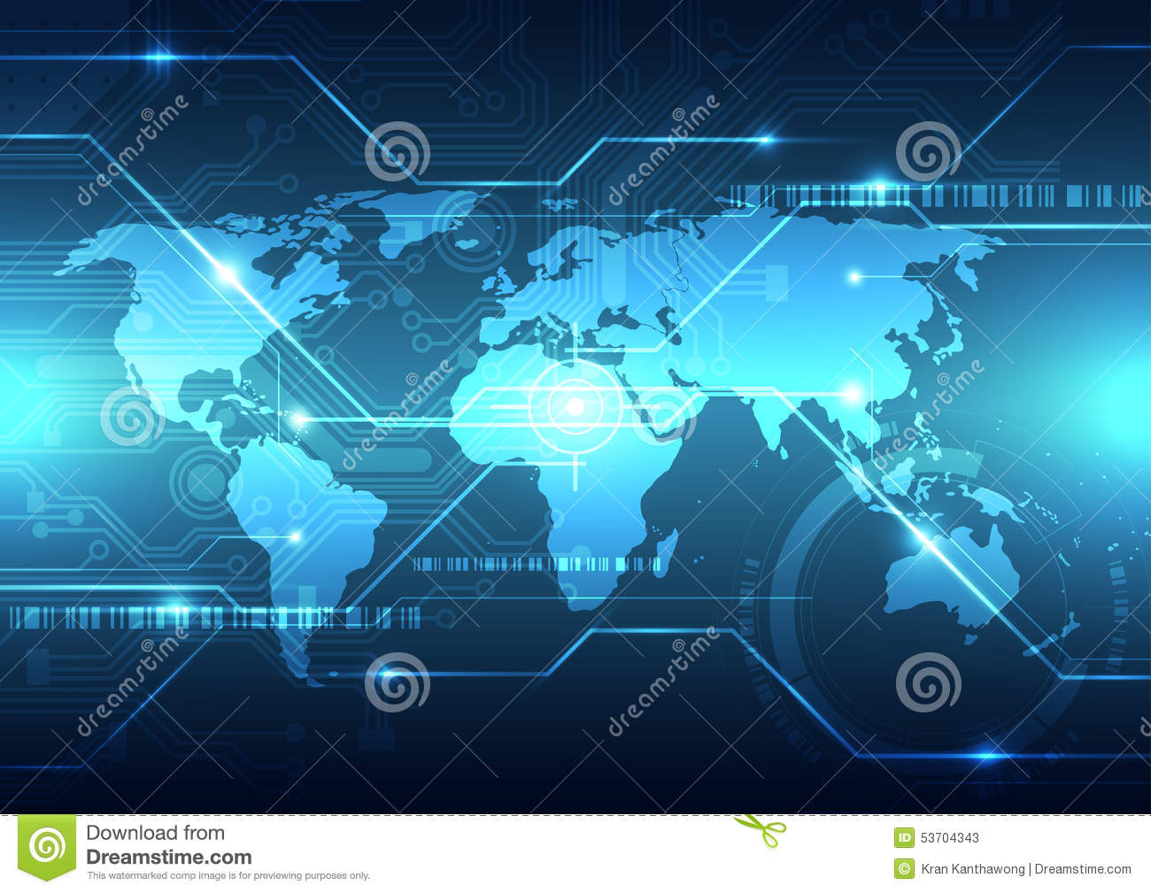 Vector Digital Global Technology Concept Abstract
