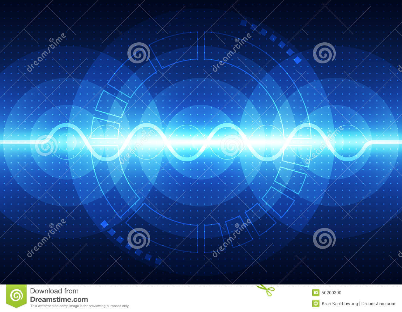 Vector digital sound wave technology, abstract background