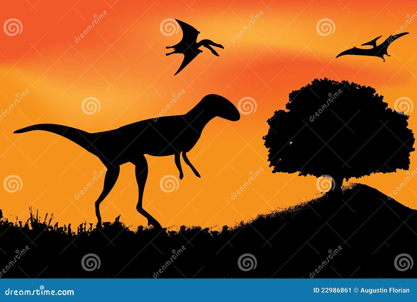vector dinosaur silhouette stock image image 22986861