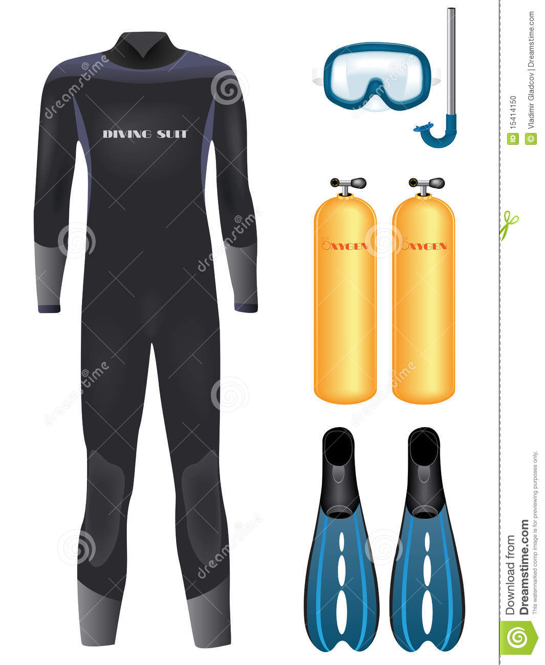 Scuba Diver Equipment Water Sport Activity Vacation ...