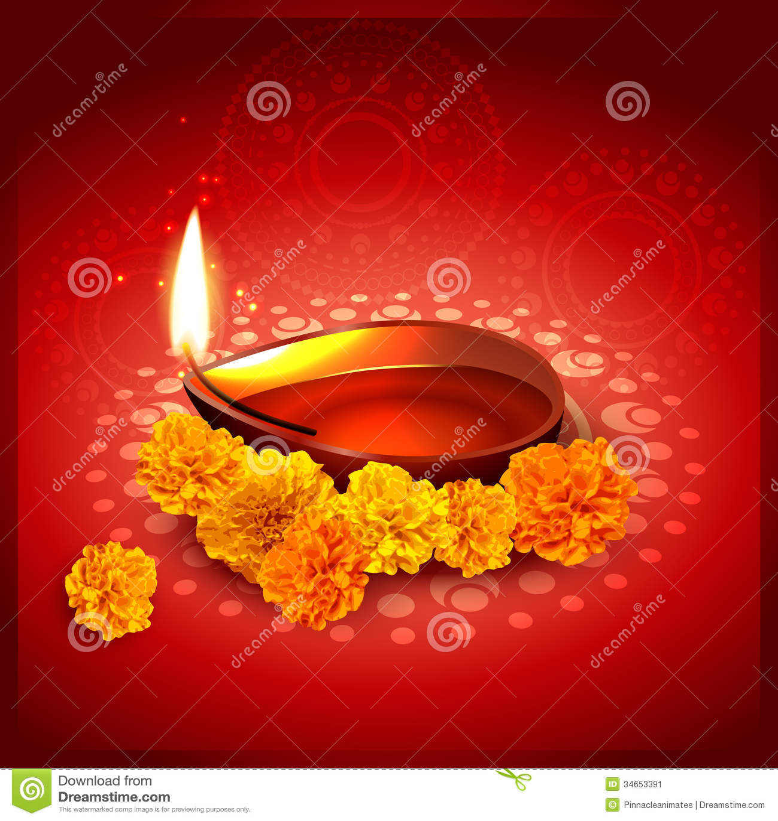 Vector diwali diya stock vector. Illustration of creative - 34653391 for diwali diya wallpaper vector  45ifm