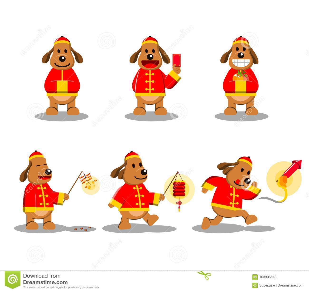 chinese new year dog character