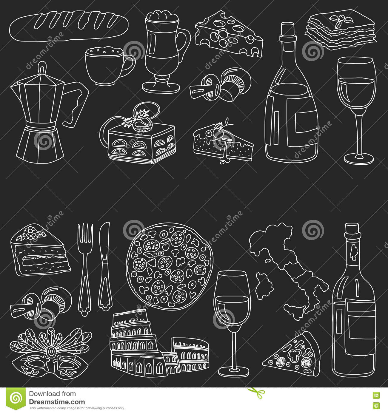 Lasagna cartoons illustrations vector stock images for Avventura journeys in italian cuisine