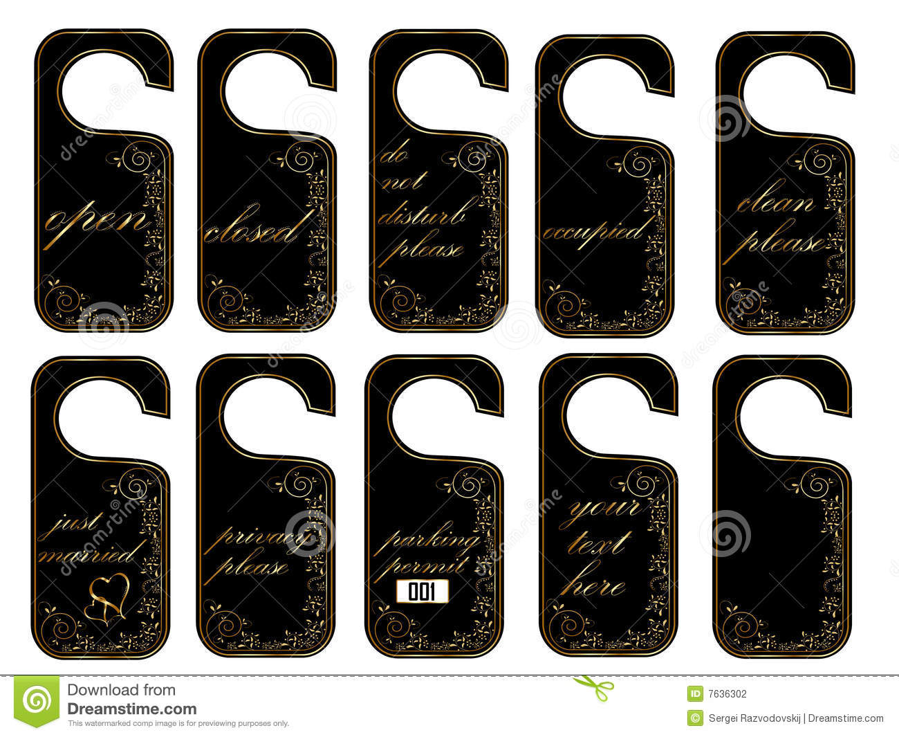 Vector Door Hang Tags Stock Photography - Image: 7636302